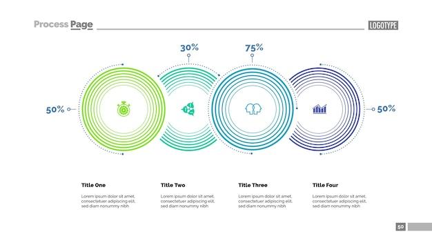 Four options comparison slide template