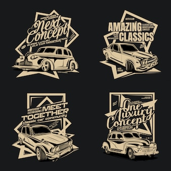 Four packs of classic cars