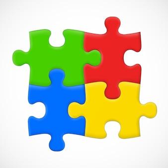 Four piece puzzle. solution
