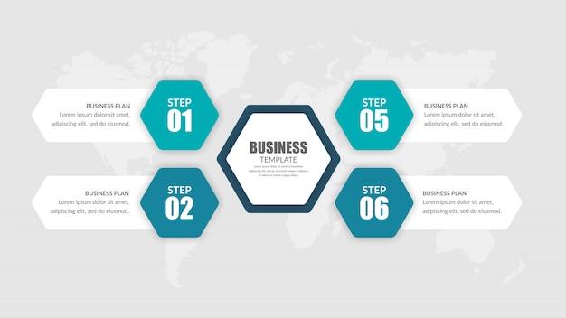숫자가있는 4 포인트 인포 그래픽 비즈니스 전략