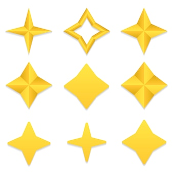 Four point stars collection