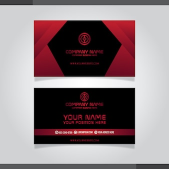 Four premium  abstract creative business cards (set template)