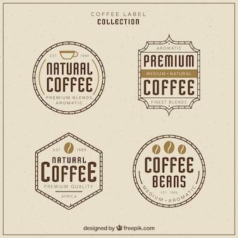 フォープレミアムレトロなコーヒーのステッカー
