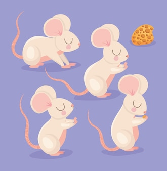 Four pretty mouses