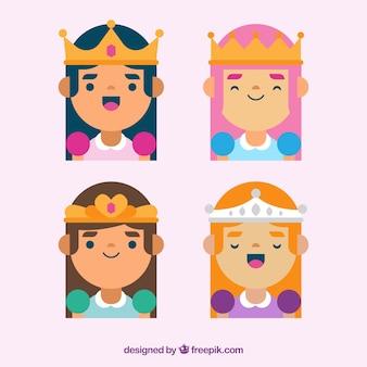 クラウンを持つ4人の王女