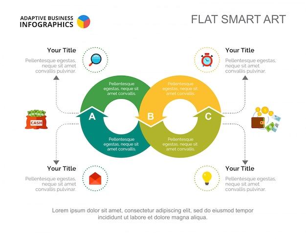 Four principles flowchart slide template