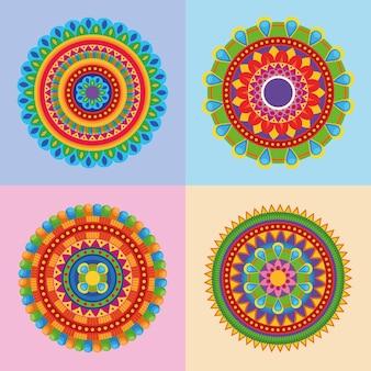 4つのラクシャバンダン曼荼羅