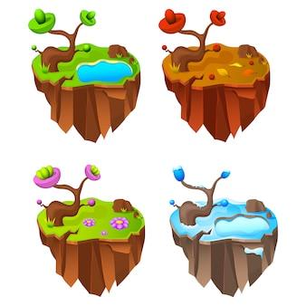 Четыре сезона земля дизайн игры