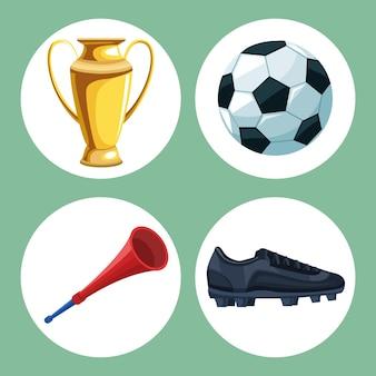 4つのサッカーアイコン