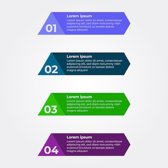 Four step infographic design. flat multicolor infographic design template