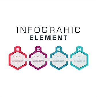 Four step infographic element