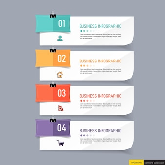 4つのステップのビジネスインフォグラフィック