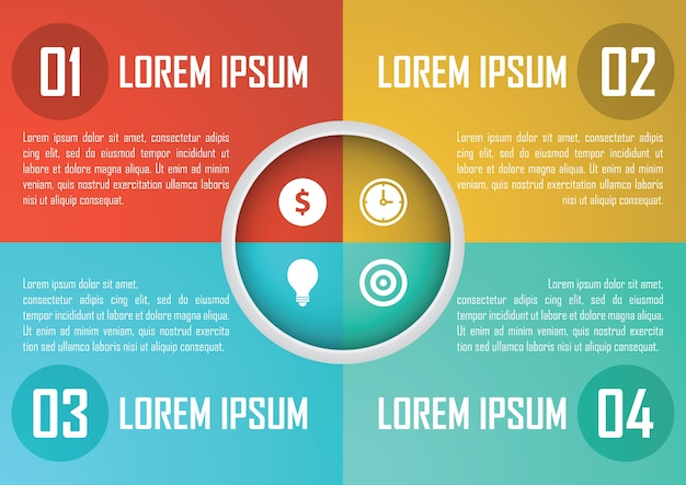 Four steps circle infographics design template