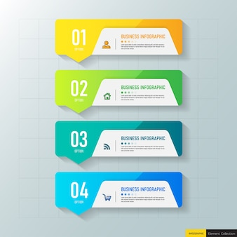 Four steps infographic templates