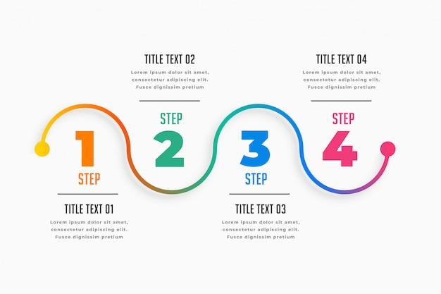 Four steps infographic timeline template