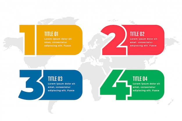 Four steps infographics template design