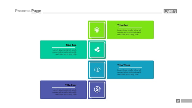 Four steps strategy slide template