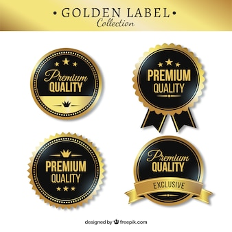 Four stylish premium stickers