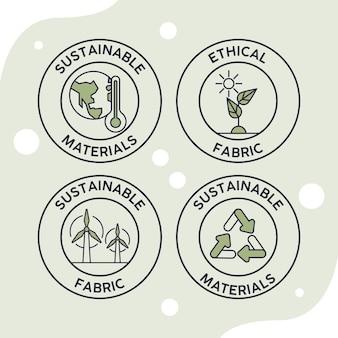 4つの持続可能なスタッフシール