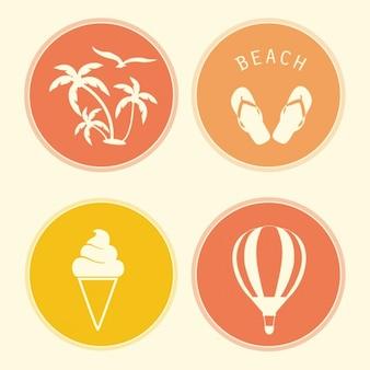 Four summer badges
