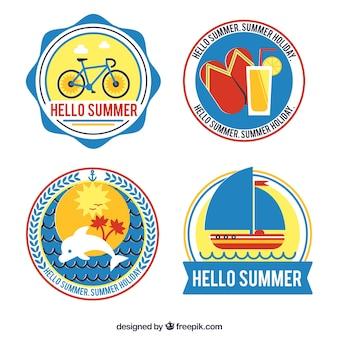 네 여름 라운드 스티커