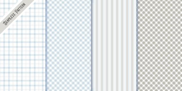 Набор из четырех текстильных бесшовных узоров