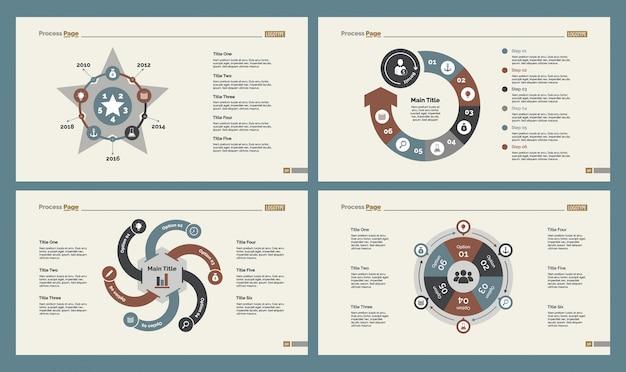 4 개의 교육 슬라이드 템플릿 세트