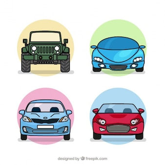 Four types of cars pack