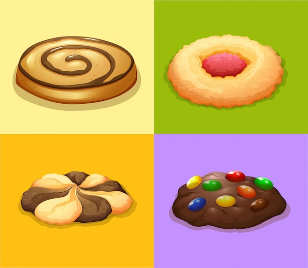 Four types of cookies