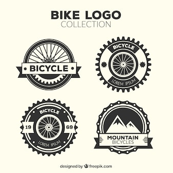Four vintage bicycle logos