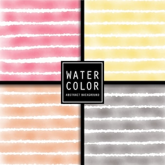Four watercolors backgrounds