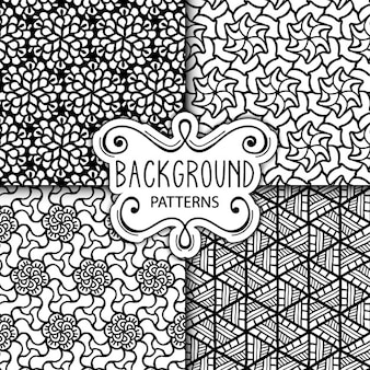 Four white and black backgrounds