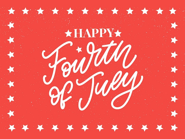 Четвертое 4 июля стильный дизайн на день независимости сша четвертое июля