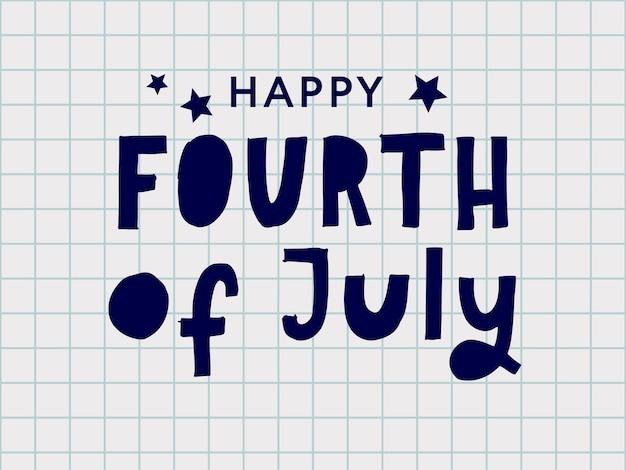 Четвертое 4 июля стильный дизайн на день независимости сша