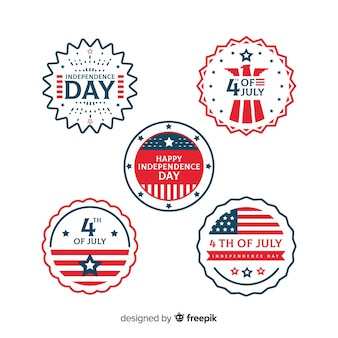 Fourth of july badge collectio