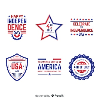 Fourth of july badge collection