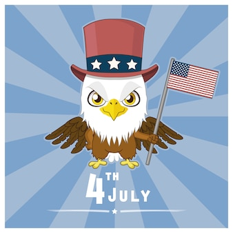 Fourth july bakcground with eagle