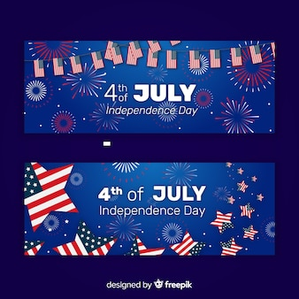 Fourth of july banners