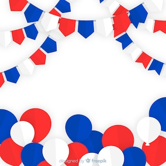 Fourth of july festive background