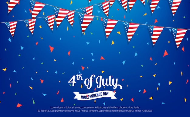 Fourth of july. holiday banner. usa independence day