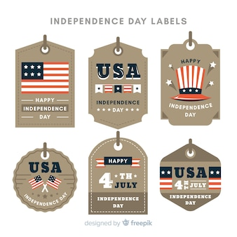 Fourth of july label collection