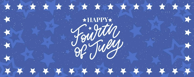Fourth  of july stylish american independence day design