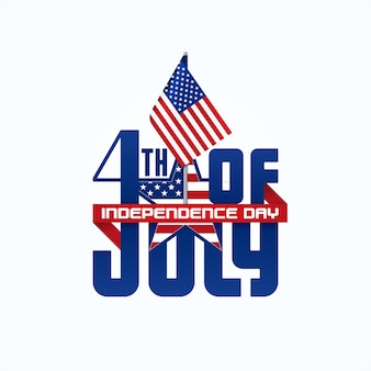 Fourth of july typographic design