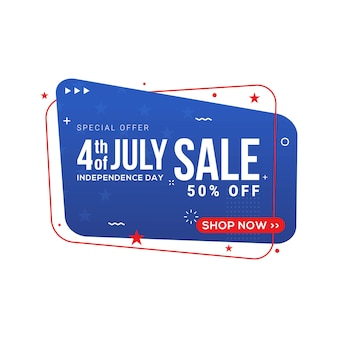 Fourth of july usa independence day sale banner