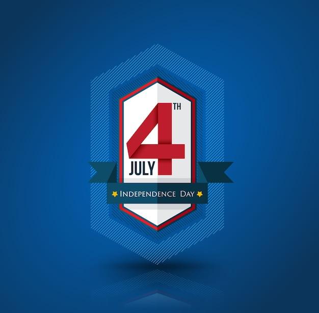 7 월 독립 기념일 배너