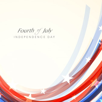 Fourth of july shiny background