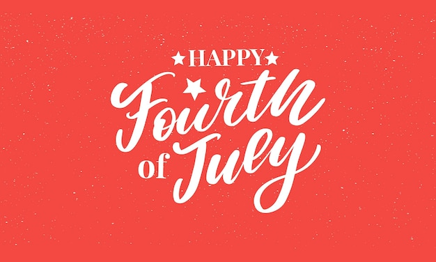 Стильный дизайн дня независимости сша четвертого июля