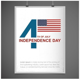 Fourth of july usa independence day greeting card
