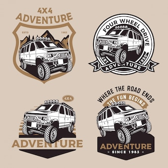 Fourwheel drive adventure car