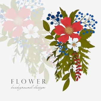 Fower page boarders - red flower